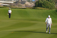 Brandon Stone (RSA) and Sami Valimaki (FIN) on the 18th for the 3rd Play Off hole during Round 4 of the Oman Open 2020 at the Al Mouj Golf Club, Muscat, Oman . 01/03/2020<br /> Picture: Golffile | Thos Caffrey<br /> <br /> <br /> All photo usage must carry mandatory copyright credit (© Golffile | Thos Caffrey)