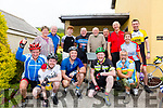 Paddy Reidy from Valentia Road, Cahersiveen hosted breakfast for some weary cyclists on their Ring of Kerry Cycle on Saturday morning, pictured here front l-r; Leo Harmon, Odhran Reidy, Mike Greaney, Padraig Quinlan, back l-r; Anne Greaney, Denis Reidy, Ferdia Greaney, Ray Reidy, Paddy Reidy, Niall Sheehan, Peter Phelan, Eileen Sugrue & Ted O'Donovan.
