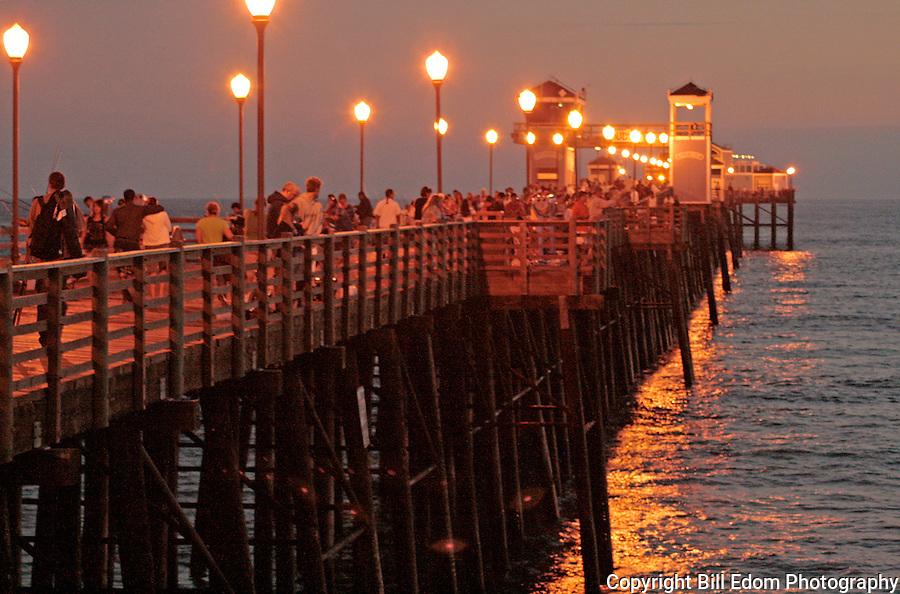 Oceanside Pier on a Summer Evening.