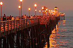 Oceanside Pier on a Summer Evening.