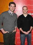 John Krasinski & Matt Damon backstage at TimesTalks at the Times Center in New York City. November 27, 2012.