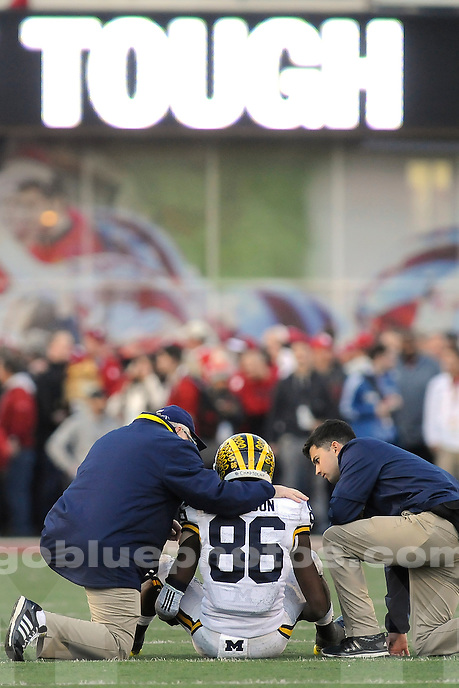 Michigan defeats Indiana University, 48-41 in double overtime at IU's Memorial Stadium, Saturday, November 14, 2015.