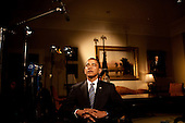 Washington, DC - June 2, 2009 -- United States President Barack Obama closes his eyes before he tapes his weekly Radio Address in the Roosevelt Room of the White House, June 2, 2009..Mandatory Credit: Samantha Appleton - White House via CNP