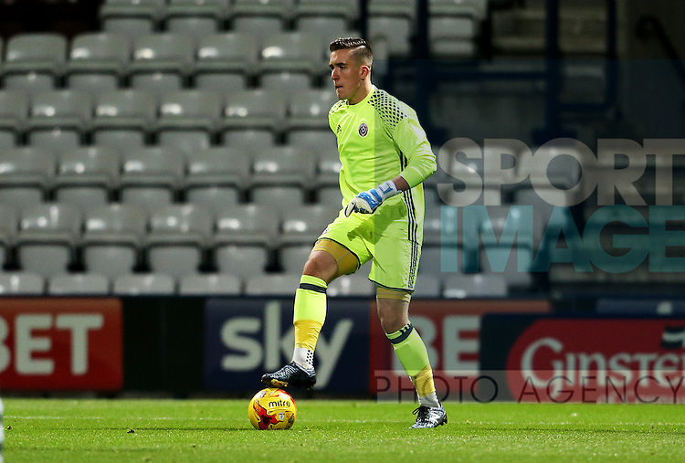 Josh Perryman of Sheffield United under 18's during the FA Youth Cup 3rd Round match at Deepdale Stadium, Preston. Picture date: November 30th, 2016. Pic Matt McNulty/Sportimage
