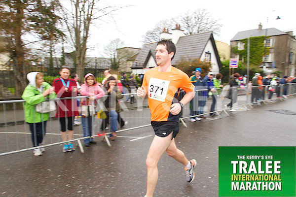 Evan Scott 371, who took part in the Kerry's Eye Tralee International Marathon on Sunday 16th March 2014.