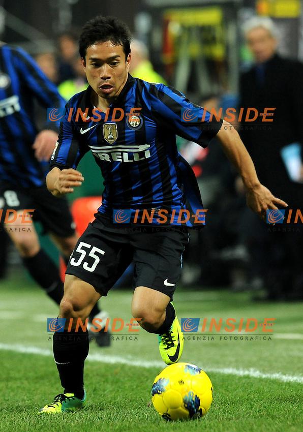 "Yuto NAGATOMO (Inter).Milano 10/12/2011 Stadio ""Giuseppe Meazza"".Serie A 2011/2012.Football Calcio Inter Vs Fiorentina.Foto Insidefoto Alessandro Sabattini."