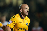 David Pipe of Newport County during the Sky Bet League 2 match between Newport County and Doncaster Rovers at Rodney Parade, Newport, Wales on 10 February 2017. Photo by Mark  Hawkins / PRiME Media Images.
