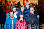 Patrick Murphy, Ava Stack, Colette Stack, Ann Murphy, Canon Declan O'Connor and Colleen Stack, celebrating Listowel Tidy Town overall winners on Monday night.