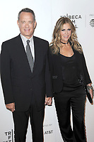 www.acepixs.com<br /> April 26, 2017  New York City<br /> <br /> Tom Hanks and Rita Wilson arriving to the World Premiere of 'The Circle' at the 2017 Tribeca Film Festival on April 26, 2017 in New York City.<br /> <br /> Credit: Kristin Callahan/ACE Pictures<br /> <br /> <br /> Tel: 646 769 0430<br /> Email: info@acepixs.com