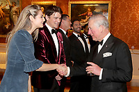 12 March 2019 - London, England - Josh Hartnett and Tamsin Egerton, Luke Evans with Prince Charles, Prince of Wales during a dinner to celebrate The Princes Trust at Buckingham Palace in London. The Prince of Wales, President, The Princes Trust Group hosted a  dinner for donors, supporters and ambassadors of Princes Trust International. Photo Credit: ALPR/AdMedia