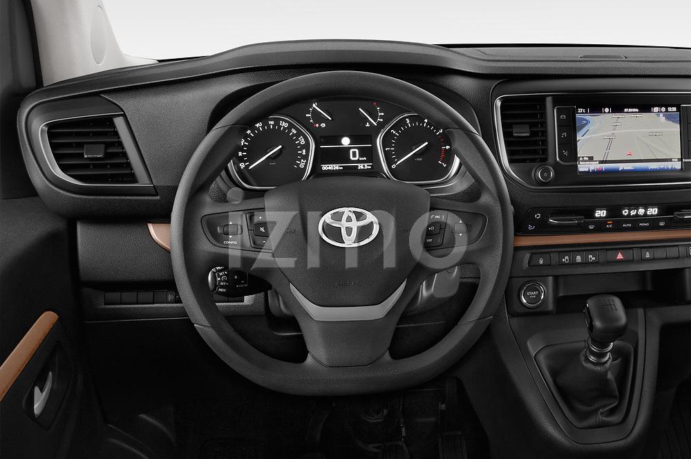 Car pictures of steering wheel view of a 2018 Toyota Proace-Verso Viaggio 5 Door Minivan Steering Wheel