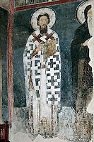 St. Savva,Stephen Nemanya as monk Simeon,procession of the Nemanyics,fresco,old narthex,Milesheva  Monastery of Ascension of the Lord , 1234-1235