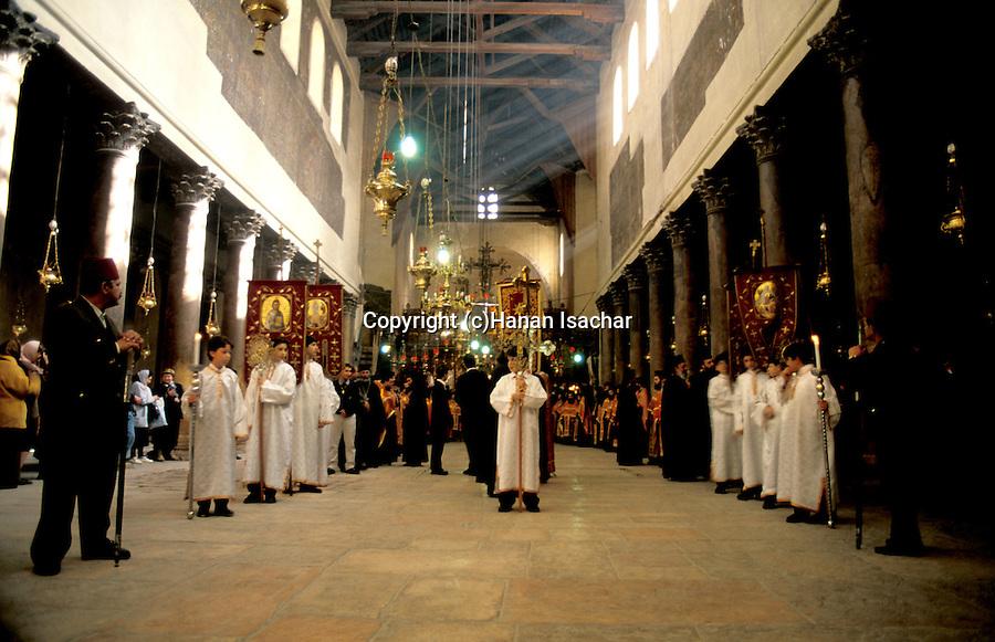 Bethlehem, Greek Ortodox Christmas Procession at the Church of the Nativity&amp;#xA;<br />