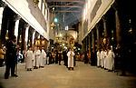 Bethlehem, Greek Ortodox Christmas Procession at the Church of the Nativity&#xA;<br />