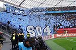 11.05.2019, BayArena, Leverkusen, GER, 1. FBL, Bayer 04 Leverkusen vs. FC Schalke 04 ,<br />  <br /> DFL regulations prohibit any use of photographs as image sequences and/or quasi-video<br /> <br /> im Bild / picture shows: <br /> Choreo Schalke <br /> <br /> Foto &copy; nordphoto / Meuter