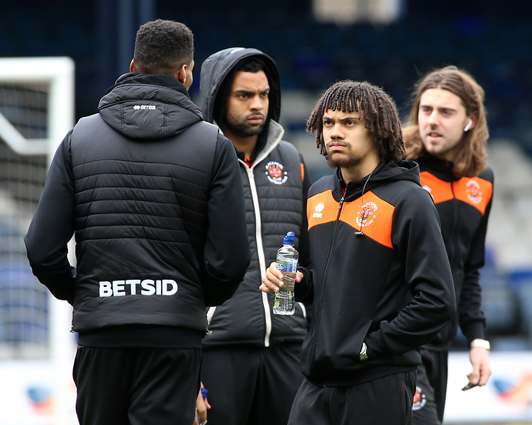 Blackpool's Nya Kirby looks on before kick off<br /> <br /> Photographer David Shipman/CameraSport<br /> <br /> The EFL Sky Bet League One - Luton Town v Blackpool - Saturday 6th April 2019 - Kenilworth Road - Luton<br /> <br /> World Copyright © 2019 CameraSport. All rights reserved. 43 Linden Ave. Countesthorpe. Leicester. England. LE8 5PG - Tel: +44 (0) 116 277 4147 - admin@camerasport.com - www.camerasport.com