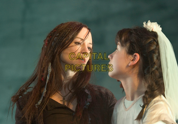 "HOLLY HUNTER & KATE COSTELLO.""By The Bog of Cats"" Stage Photocall,.Wyndhams Theatre, Charing cross Road, London, November 30th 2004..portrait headshot costume play.Ref: PL.www.capitalpictures.com.sales@capitalpictures.com.©Capital Pictures."