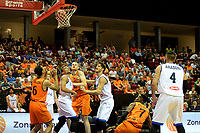 GRONINGEN - Basketbal, Nederland - Italie, WK kwalificatie 2019, Martiniplaza, 01-07-2018 Charlon Kloof scoort voor Oranje