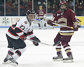 Brian Swiniarski, Brock Bradford - The Boston College Eagles and Northeastern University Huskies tied at 1 on Saturday, October 22, 2005, at Matthews Arena in Boston, Massachusetts.