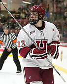 Nathan Krusko (Harvard - 13) - The Harvard University Crimson defeated the St. Lawrence University Saints 6-3 (EN) to clinch the ECAC playoffs first seed and a share in the regular season championship on senior night, Saturday, February 25, 2017, at Bright-Landry Hockey Center in Boston, Massachusetts.