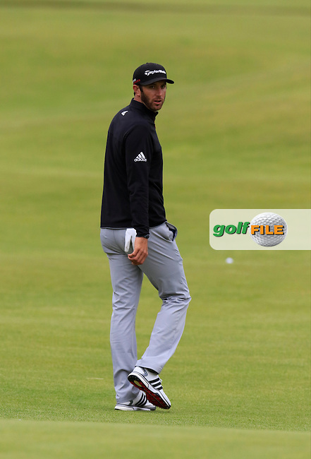 Dustin JOHNSON (USA) on the 18th hole during Sunday's Round 3 of the 144th Open Championship, St Andrews Old Course, St Andrews, Fife, Scotland. 19/07/2015.<br /> Picture Eoin Clarke, www.golffile.ie