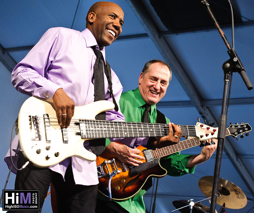 Fourplay playing at Jazz Fest 2011 in New Orleans, LA on day 6.