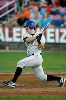 Joseph Sanders of the Tri-City Dust Devils in the Northwest League championship game against the Salem-Keizer Volcanoes at Volcanoes Stadium - 9/10/2009..Photo by:  Bill Mitchell/Four Seam Images..