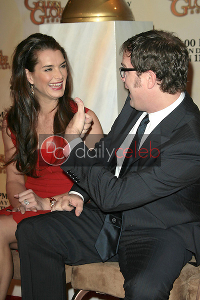 Brooke Shields and Rainn Wilson <br /> at the 66th Annual Golden Globe Awards Nomination Announcement Press Conference. Beverly Hilton Hotel, Beverly Hills, CA. 12-11-08<br /> Dave Edwards/DailyCeleb.com 818-249-4998