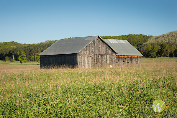 Highway 22 North, Mountain Township, MI.  Barn