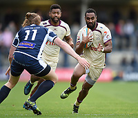 Andy Bulumakau of Doncaster Knights in possession. Greene King IPA Championship match, between Yorkshire Carnegie and Doncaster Knights on September 17, 2017 at Headingley Stadium in Leeds, England. Photo by: Patrick Khachfe / Onside Images