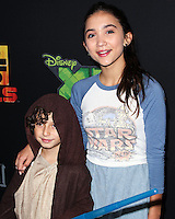 "CENTURY CITY, CA, USA - SEPTEMBER 27: August Maturo, Rowan Blanchard arrive at the Los Angeles Screening Of Disney XD's ""Star Wars Rebels: Spark Of Rebellion"" held at the AMC Century City 15 Theatre on September 27, 2014 in Century City, California, United States. (Photo by Celebrity Monitor)"