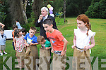 READY, SET, GO!: An Ice Cream Fun Day Garden Party in aid of Down Syndrome Ireland was held on Sunday at Dromquinna Manor, Kenmare, and special guests were At Your Service presenters John and Francis Brennan. Francis is pictured here starting off one of the sack races.