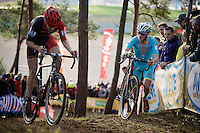 Lars Boom (NLD/Astana) isn't the impressive cyclocross-rider he used to be... hovering at the back of the peloton for the whole race<br /> <br /> UCI Cyclocross World Cup Heusden-Zolder 2015