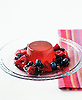 Champagne and Strawberry Jelly with Berry Compote.