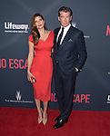 "Lake Bell and Pierce Brosnan attends The Premiere Of The Weinstein Company's ""No Escape"" held at The Regal Cinemas L.A. Live in Los Angeles, California on August 17,2015                                                                               © 2015 Hollywood Press Agency"