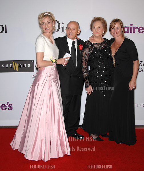 Sharon Stone (left) & sister Kelly Stone & parents at the first annual Class of Hope Prom 2007 charity gala at the Sportsmen's Lodge, Studio City..The event benefitted Planet Hope, which was founded by Sharon & Kelly Stone to provide assistance to homeless, abused or disadvantaged children around the world..April 22, 2007  Studio City, CA.Picture: Paul Smith / Featureflash