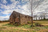 Old stone buildings in the Arkansas River Vally near Altus Arkansas.