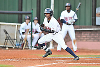 Elizabethton Twins right fielder T.J. Dixon (41) swings at a pitch during game one of the Appalachian League Championship Series against the Pulaski Yankees at Joe O'Brien Field on September 7, 2017 in Elizabethton, Tennessee. The Twins defeated the Yankees 12-1. (Tony Farlow/Four Seam Images)