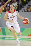 Moeko Nagaoka (JPN), AUGUST 8, 2016 - Basketball : <br /> Women's Preliminary Round <br /> between Japan 82-66 Brazil <br /> at Youth Arena <br /> during the Rio 2016 Olympic Games in Rio de Janeiro, Brazil. <br /> (Photo by Yusuke Nakanishi/AFLO SPORT)