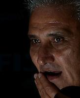 SÃO PAULO,SP,22 MARCO 2013 - TREINO CORINTHIANS.  Tite em entrevista coletiva  durante treino do Corinthians no CT Joaquim Grava, no Parque Ecologico do Tiete, zona leste de Sao Paulo, na manha desta terca feira. O time se prepara para o jogo  contra o  Guarani em Campinas,  jogo valido pelo paulistao 2013. FOTO ALAN MORICI - BRAZIL FOTO PRESS