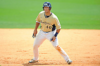 22 April 2012:  FIU infielder Mike Martinez (40) takes a lead off of first base as the University of Arkansas Little Rock Trojans defeated the FIU Golden Panthers, 7-6, at University Park Stadium in Miami, Florida.