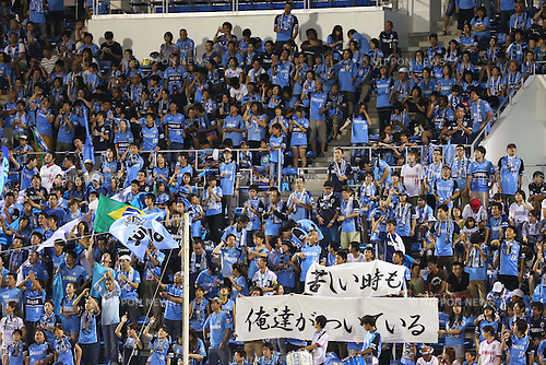 Jubilo Iwata Fans (Jubilo), <br /> August 24, 2013 - Football / Soccer : <br /> 2013 J.LEAGUE Division 1, 22nd Sec <br /> match between Jubilo Iwata 0-0 F.C.Tokyo <br /> at YAMAHA Stadium, Shizuoka, Japan. <br /> (Photo by Daiju Kitamura/AFLO SPORT) [1045]