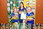 Ava Healy, Caoimhe O'Sullivan, Sinead Gleeson, Glenflesk -  My County, at the Kerry Community Games Project Final in the KDYS Denny Street on Friday