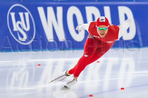 January 29th 2017, Sportforum, Berlin, Germany; ISU Speed Skating World Cup;  ISU Speed Skating World Cup  1000m Division B;  Piotr Puszkarski (POL)