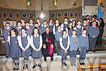 Sixth class pupils of Dromclough National School, Listowel, with their teacher Karen Trench and Bishop Bill Murphy after their confirmation in St. Michael's Church, Lixnaw, on March 2nd. Pictured are Sarah Browne, Emma Canty, Edward Enright, Patrick Fahey, Gearo?id Galvin, Martina Guiney, Shay Healy, Patrick Holly, Shaunagh Holly, Rachel Horgan, Taragh Kelly, Amy Kelly, Paul Kerin, Clodagh Kissane, Luke McCarthy, Jack McElligott, Christopher McKenna, Ciara Moriarty, Gary O'Brien, Eoin O'Connell, Siobha?n O'Donnell, Kelsey O'Sullivan, Tommy Porter, Josh Somers and Amy Thornton.