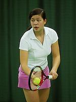 10-3-06, Netherlands, tennis, Rotterdam, National indoor junior tennis championchips, Florence Nah