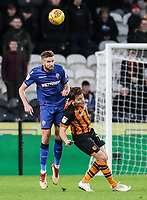 Bolton Wanderers' Mark Beevers competing with Hull City's Chris Martin<br /> <br /> Photographer Andrew Kearns/CameraSport<br /> <br /> The EFL Sky Bet Championship - Hull City v Bolton Wanderers - Tuesday 1st January 2019 - KC Stadium - Hull<br /> <br /> World Copyright © 2019 CameraSport. All rights reserved. 43 Linden Ave. Countesthorpe. Leicester. England. LE8 5PG - Tel: +44 (0) 116 277 4147 - admin@camerasport.com - www.camerasport.com