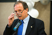 NWA Democrat-Gazette/CHARLIE KAIJO Chief Justice Jon &quot;Dan&quot; Kemp speaks to adult drug court and veterans treatment court graduates, Friday, June 8, 2018 at the Church of Christ in Bentonville. <br /><br />Some participants in Benton County&acirc;&euro;&trade;s drug and veterans court graduated from the program, their largest class. A ceremony was held Friday and Lt. Governor Tim Griffith was the guest speaker.