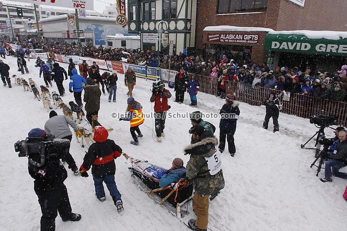 Tom Thurston Saturday, March 3, 2012  Ceremonial Start of Iditarod 2012 in Anchorage, Alaska.