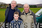 Alex Moriarty, Killian Litchfield and Jim Litchfield, pictured at the McGrath Cup semi-final, Kerry v CIT on Sunday.